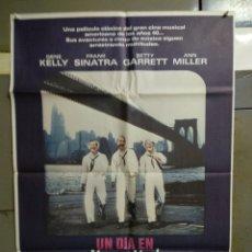 Cine: CDO 141 UN DIA EN NUEVA YORK GENE KELLY FRANK SINATRA POSTER ORIGINAL 70X100 ESPAÑOL. Lote 193167106