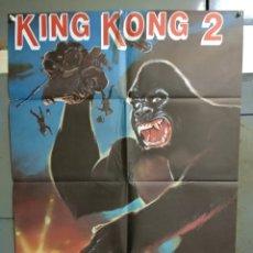 Cine: CDO 144 KING KONG 2 LINDA HAMILTON JOHN GUILLERMIN POSTER ORIGINAL 70X100 ESTRENO. Lote 193168447