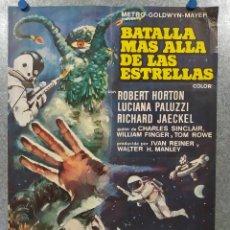 Cine: BATALLA MÁS ALLÁ DE LAS ESTRELLAS. ROBERT HORTON, RICHARD JAECKEL AÑO 1967. POSTER ORIGINAL. Lote 193176021