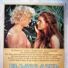Cine: EL LAGO AZUL, CON BROOKE SHIELDS. POSTER 70 X 100 CMS. 1980.. Lote 206988268