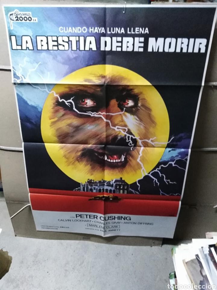 LA BESTIA DEBE MORIR PETER CUSHING POSTER ORIGINAL 70X100 YY (2259) (Cine - Posters y Carteles - Terror)