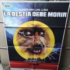 Cine: LA BESTIA DEBE MORIR PETER CUSHING POSTER ORIGINAL 70X100 YY (2259). Lote 193805348