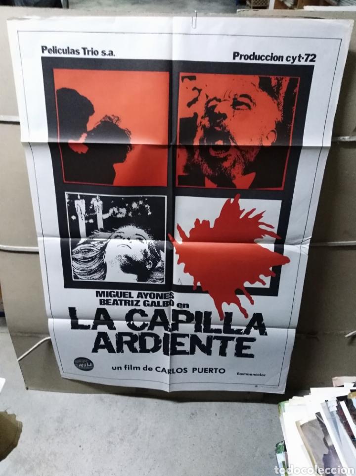 LA CAPILLA ARDIENTE CARLOS PUERTO POSTER ORIGINAL 70X100 YY (2260) (Cine - Posters y Carteles - Terror)