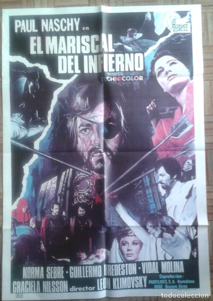 EL MARISCAL DEL INFIERNO. POSTER ESTRENO 70X100CM. PAUL NASCHY (Cine - Posters y Carteles - Terror)