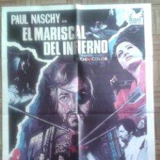 Cine: EL MARISCAL DEL INFIERNO. POSTER ESTRENO 70X100CM. PAUL NASCHY. Lote 193808601