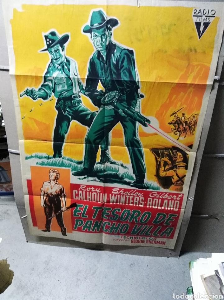 EL TESORO DE PANCHO VILLA POSTER ORIGINAL 70X100 YY (2267) LITOGRAFÍA (Cine - Posters y Carteles - Westerns)