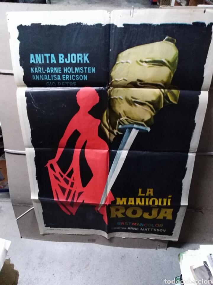 LA MANIQUÍ ROJA ANITA BJORK POSTER ORIGINAL 70X100 YY (2268)JANO (Cine - Posters y Carteles - Suspense)