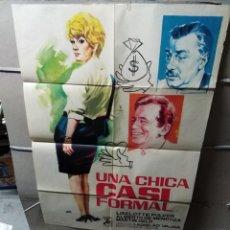 Cine: UNA CHICA CASI FORMAL LADISLAO VADJA POSTER ORIGINAL 70X100 YY (2270). Lote 193817868