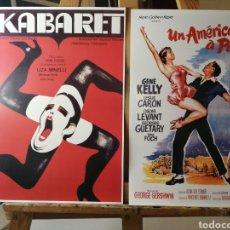 Cine: 2 CARTELES CINE MUSICAL: CABARET Y UN AMERICANO EN PARÍS PARA ENMARCAR. Lote 193842332