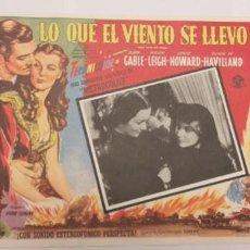 Cine: LO QUE EL VIENTO SE LLEVO-CLARK GABLE.VIVIEN LEIGH,LOBBY CARD MEXICO. Lote 193865445