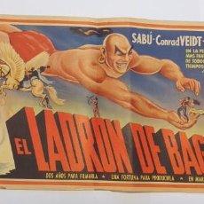 Cine: EL LADRON DE BAGDAD,SABU-CONRAD VEIDT-JUNE DUPREZ,PRECIOSO CARTEL ORIGINAL-MUY RARO. Lote 193950131