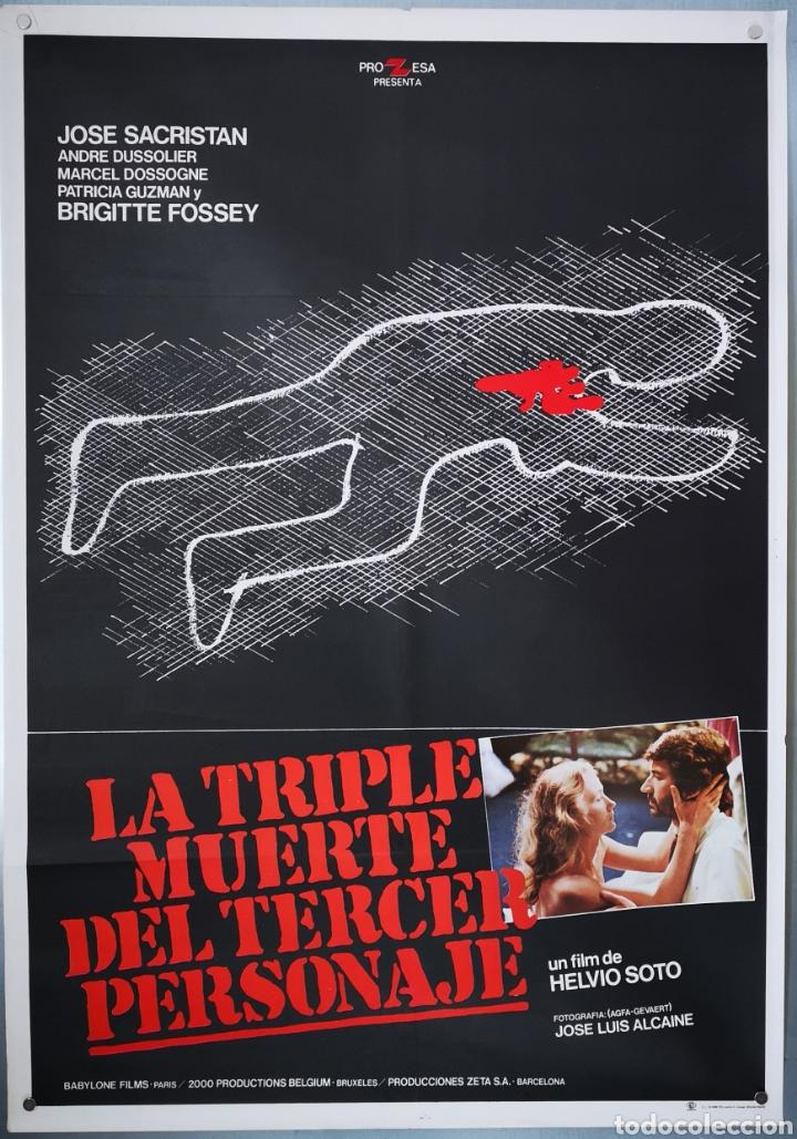 LA TRIPLE MUERTE DEL TERCER PERSONAJE - 1981 (Cine - Posters y Carteles - Clasico Español)