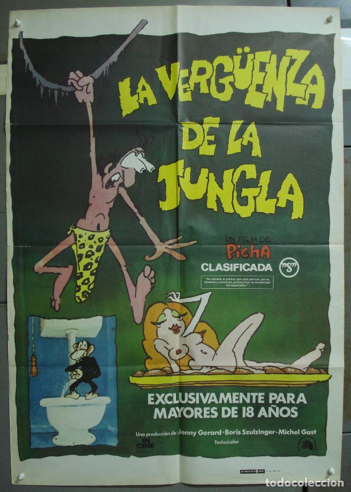 CDO 212 LA VERGUENZA DE LA JUNGLA PARODIA TARZAN ANIMACION POSTER ORIGINAL 70X100 ESTRENO (Cine - Posters y Carteles - Comedia)