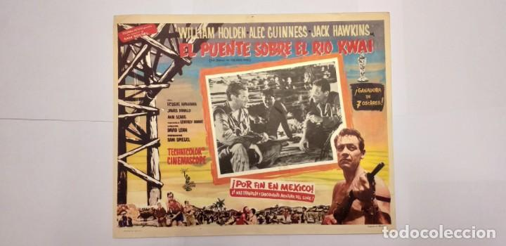Cine: EL PUENTE SOBRE EL RIO KWAI-WILLIAM HOLDEN-ALEC GUINNESS-LOBBY CARD MEXICO - Foto 1 - 194079633