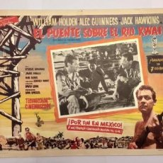 Cine: EL PUENTE SOBRE EL RIO KWAI-WILLIAM HOLDEN-ALEC GUINNESS-LOBBY CARD MEXICO. Lote 194079633
