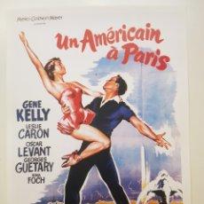 Cine: UN AMERICANO EN PARIS . CARTEL PELICULA. LAMINA CARTEL LITOGRAFICO. REPROGRAFIA.- CINE MUSICAL. Lote 194143167