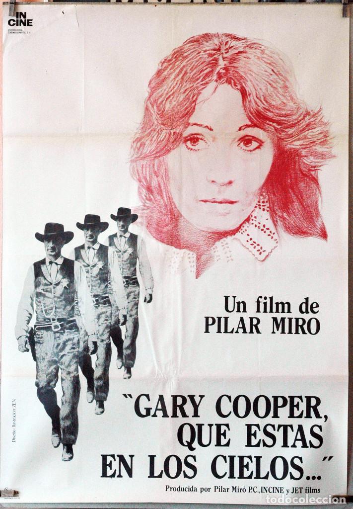 GARY COOPER QUE ESTÁS EN LOS CIELOS. CARTEL ORIGINAL. 70X100 (Cine - Posters y Carteles - Clasico Español)