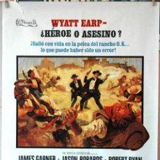 Cine: LA HORA DE LAS PISTOLAS. JAMES GARNER-ROBERT RYAN-JASON ROBARDS. CARTEL ORIGINAL 70X100. Lote 194175396