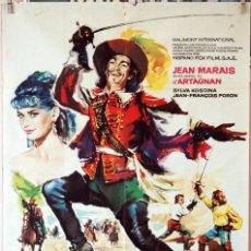 Cine: LA MÁSCARA DE HIERRO. JEAN MARAIS. CARTEL ORIGINAL 1963. 70X100. Lote 194175591