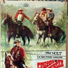 Cine: LEGIÓN FRONTERIZA. TIM HOLT. CARTEL ORIGINAL 1968. 70X100. Lote 194175783