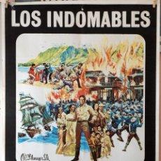 Cine: LOS INDOMABLES. CHARLTON HESTON-GERALDINE CHAPLIN. CARTEL ORIGINAL 1970. 70X100. Lote 194176215