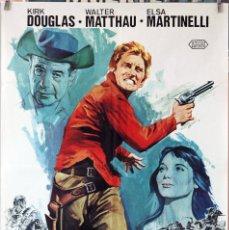 Cine: PACTO DE HONOR. KIRK DOUGLAS-WALTER MATTAHAU. CARTEL ORIGINAL 1976. 70X100. Lote 194176761