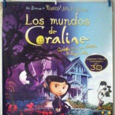 Cine: ORIGINALES DE CINE: LOS MUNDOS DE CORALINE (INFANTIL) 70X10 CMS. EN ROLLO.. Lote 194188291