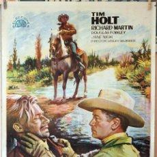 Cine: PATRULLA EN RÍO GRANDE. TIM HOLT. CARTEL ORIGINAL 1968. 70X100. Lote 194192958