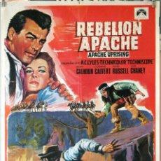 Cine: REBELIÓN APACHE. CARTEL ORIGINAL 1968. 70X100. Lote 194193090