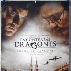 Cine: ORIGINALES DE CINE: ENCONTRARÁS DRAGONES (CHARLIE COX, WES BENTLEY, DOUGRAY SCOTT) 70X100 EN ROLLO. Lote 194193792