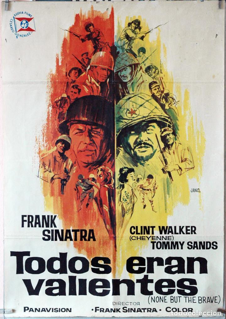 TODOS ERAN VALIENTES. FRANK SINATRA. CARTEL ORIGINAL 1965. 70X100 (Cine - Posters y Carteles - Bélicas)