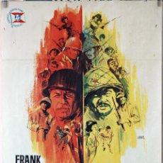 Cine: TODOS ERAN VALIENTES. FRANK SINATRA. CARTEL ORIGINAL 1965. 70X100. Lote 194194143