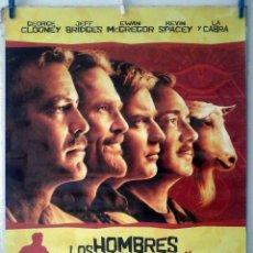 Cine: ORIGINALES DE CINE: LOS HOMBRES QUE MIRABAN FIJAMENTE A LAS CABRAS GEORGE CLOONEY. 70X100 EN ROLLO. Lote 194194197