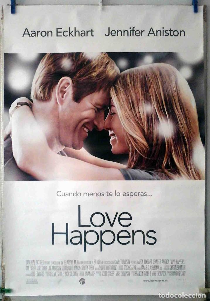 ORIGINALES DE CINE: LOVE HAPPENS (AARON ECKHART, JENNIFER ANISTON) 70X100 CMS. EN ROLLO (Cine - Posters y Carteles - Comedia)