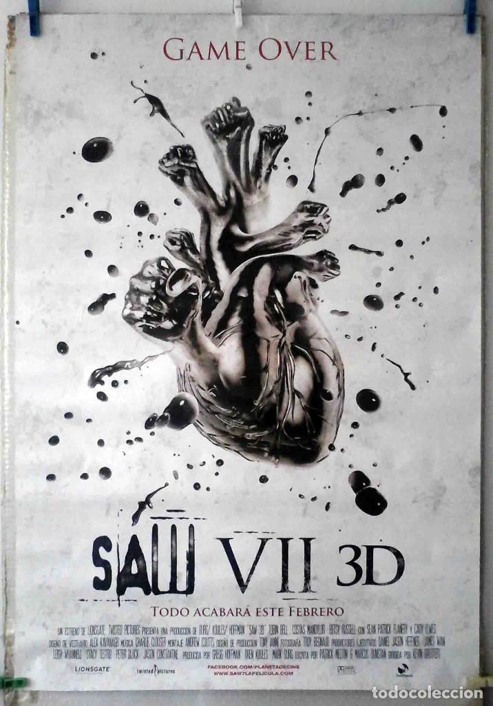 ORIGINALES DE CINE: SAW VII 3D (TOBIN BELL, COSTAS MANDYLOR, BETSY RUSSELL) 70X100 CMS. EN ROLLO (Cine - Posters y Carteles - Terror)
