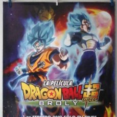 Cine: ORIGINALES DE CINE: DRAGON BALL SUPER BROLY - 70X100 CMS. EN ROLLO. Lote 194207663