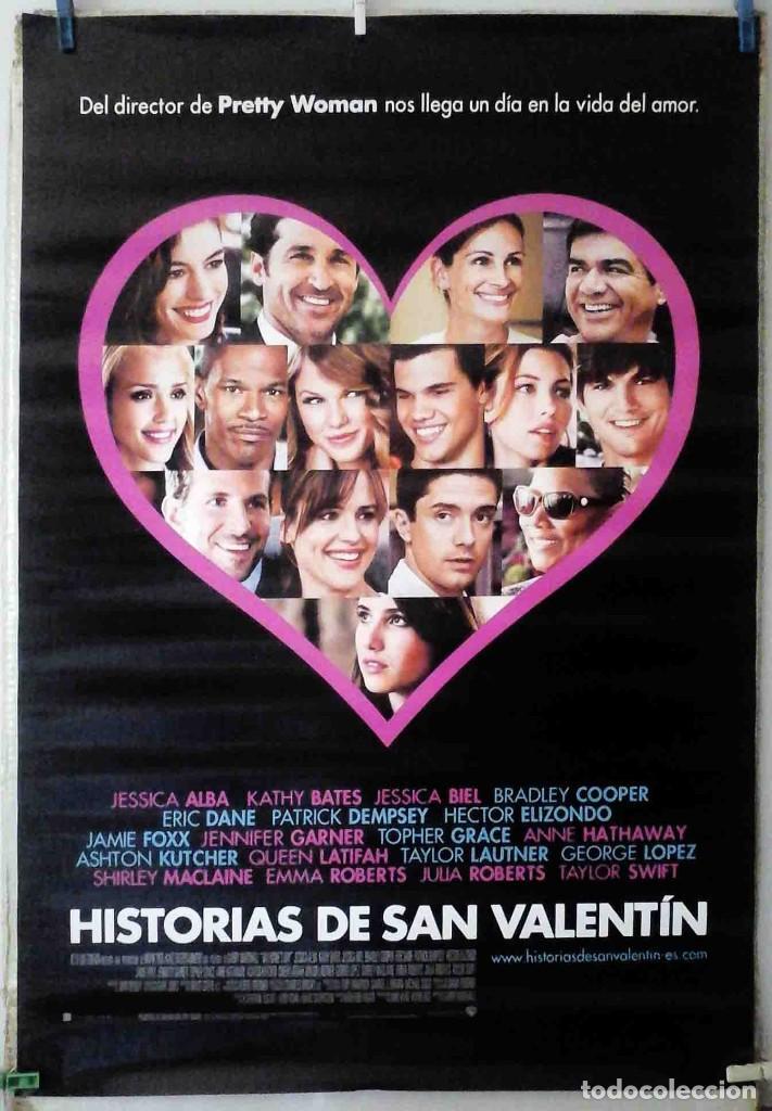 ORIGINALES DE CINE: HISTORIAS DE SAN VALENTÍN (ASHTON KUTCHER, JULIA ROBERTS) 70X100 CMS. EN ROLLO (Cine - Posters y Carteles - Comedia)