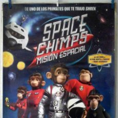 Cine: ORIGINALES DE CINE: SPACE CHIMPS. 70X100 CMS. EN ROLLO.. Lote 194208868