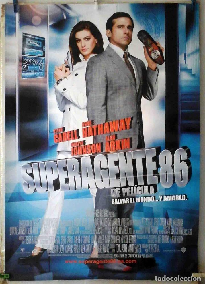 ORIGINALES DE CINE: SUPERAGENTE 86 PETER SEGAL (STEVE CARELL, ANNE HATHAWAY) 70X100. EN ROLLO (Cine - Posters y Carteles - Comedia)