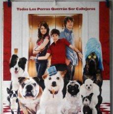 Cine: ORIGINALES DE CINE: HOTEL PARA PERROS (EMMA ROBERTS, DON CHEADLE, LISA KUDROW) 70X100 CMS. EN ROLLO. Lote 194209380