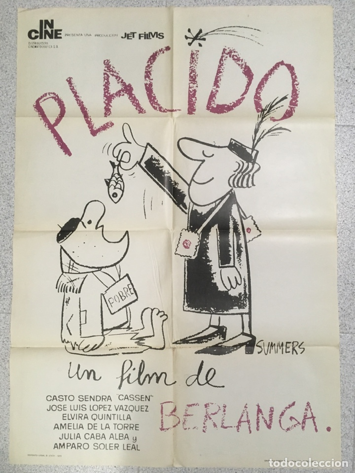 PLACIDO ( BERLANGA ) (Cine - Posters y Carteles - Clasico Español)