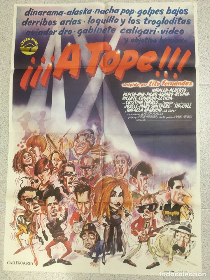 A TOPE!! ( ALASKA, LOKILLO ...) (Cine - Posters y Carteles - Clasico Español)