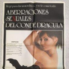 Cine: ABERRACIONES SEXUALES DEL CONDE DRACULA. Lote 194225990