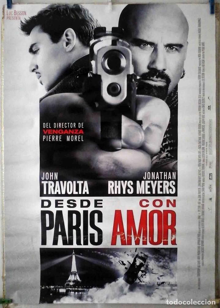 ORIGINALES DE CINE: DESDE PARÍS CON AMOR (JOHN TRAVOLTA, JONATHAN RHYS MEYERS) 70X100 CMS. EN ROLLO. (Cine - Posters y Carteles - Aventura)