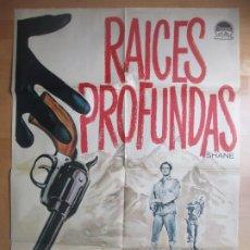 Cinema: CARTEL CINE RAICES PROFUNDAS ALAN LADD JEAN ARTHUR MAC 1963 C1648. Lote 203778690