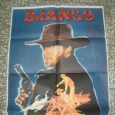 Cine: PÓSTER ORIGINAL DE 100X70CM DJANGO. FRANCO NERO. Lote 194290820