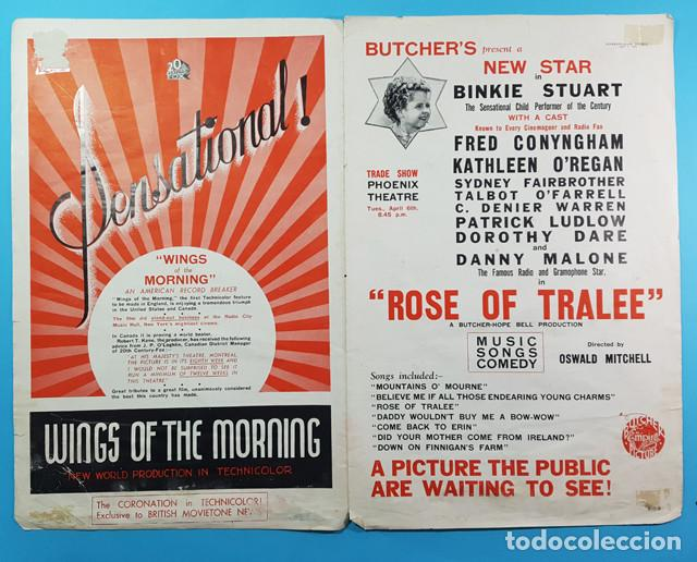 Cine: CARTEL POSTER KINEMATOGRAPH WEEKLY DE GODS COUNTRY AND THE WOMAN,GEORGE BRENT Y BEVERLY ROBERTS 1937 - Foto 2 - 194301135