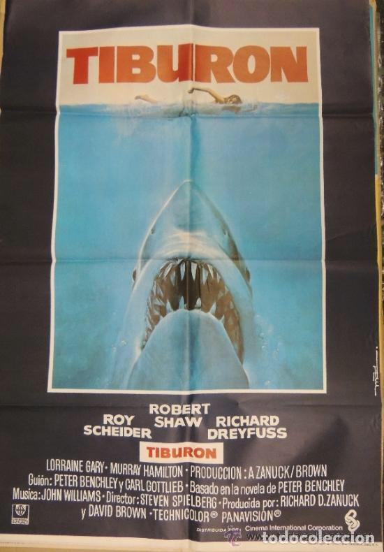 CARTEL. TIBURÓN (Cine - Posters y Carteles - Terror)