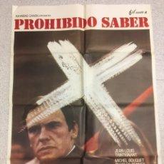 Cine: PROHIBIDO SABER. Lote 194335756
