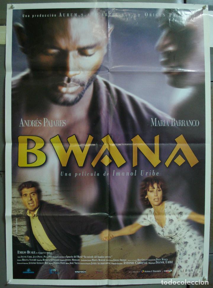 CDO 217 BWANA ANDRES PAJARES MARIA BARRANCO IMANOL URIBE BLACK CAST POSTER ORIGINAL 70X100 ESTRENO (Cine - Posters y Carteles - Clasico Español)